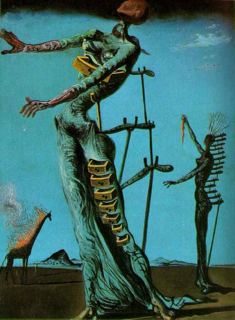 Bramarte viaggio nella storia dellarte surrealismo dal giraffe infiammate altavistaventures Gallery